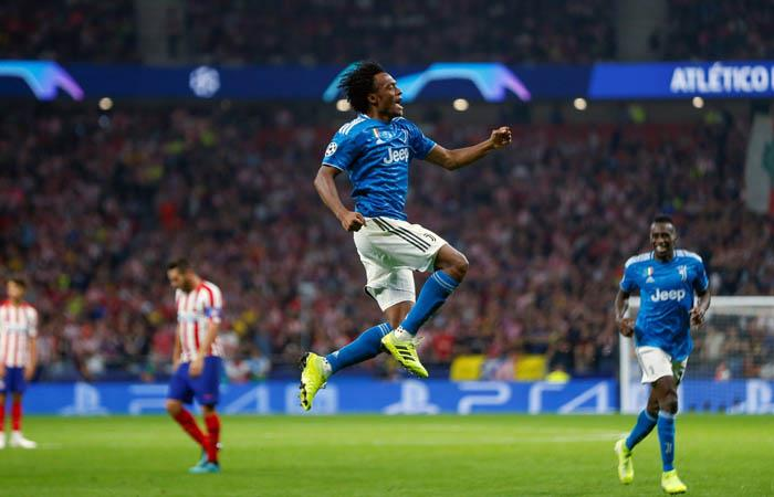 Cuadrado marcó el primer gol en el partidazo entre Juventus y Atlético de Madrid. Foto: EFE