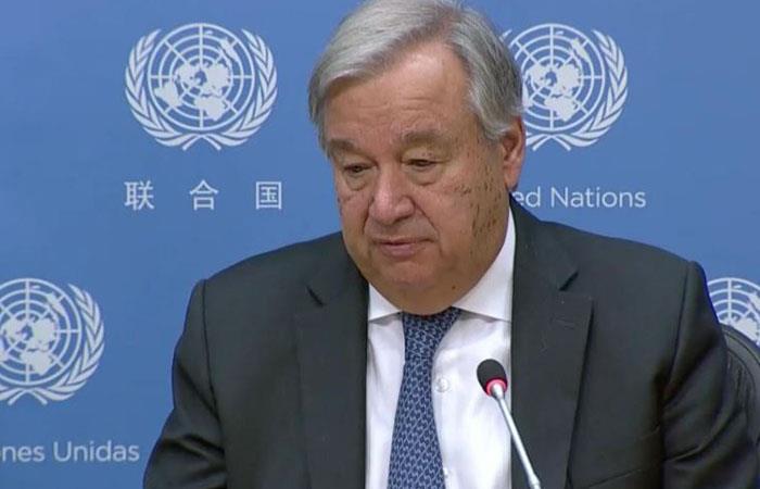 Secretario general de la ONU, António Guterres. Foto: Twitter