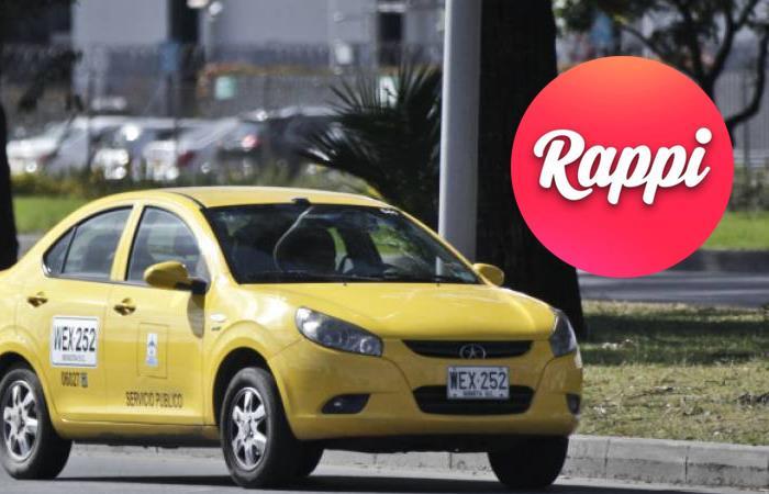 Ahora los taxis se podrán pedir desde la aplicación de Rappi. Foto: Twitter