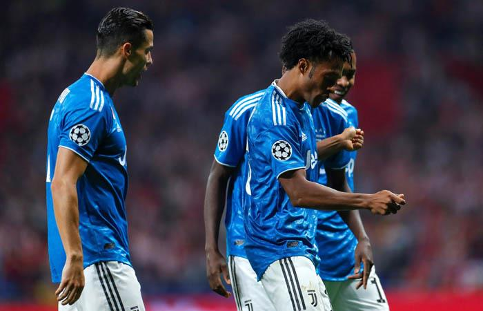 Cuadrado descrestó con su gol hasta a Cristiano Ronaldo. Foto: EFE