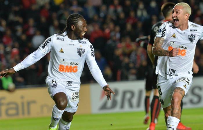 Chará anotó la ventaja parcial de Atlético Mineiro. Foto: EFE