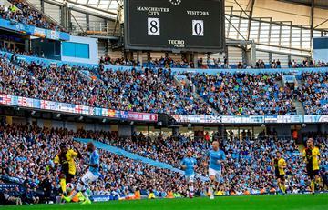 ¡Histórico! Manchester City goleó 8-0 a Watford y realizó la mayor goleada de su historia en Premier League