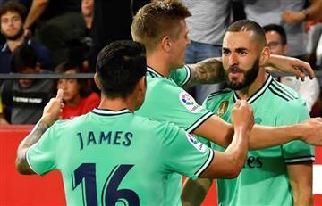 Así fue el nuevo triunfo de Real Madrid con James de titular