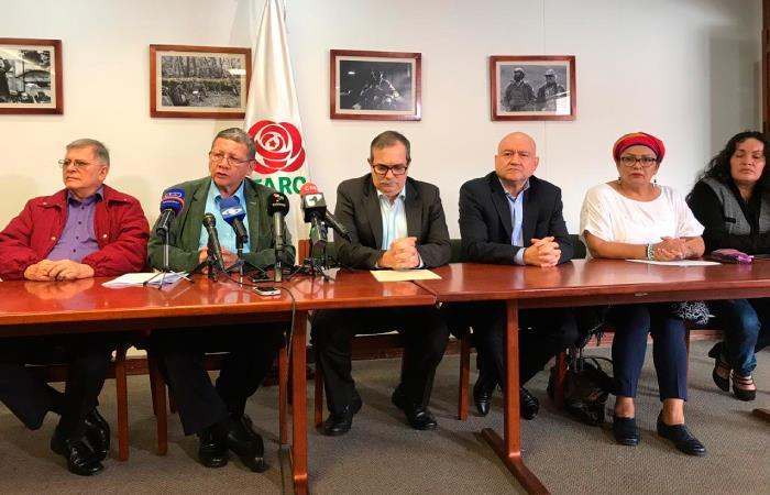 Después de comparecer ante la JEP la colectividad realizará una rueda de prensa:. Foto: Twitter