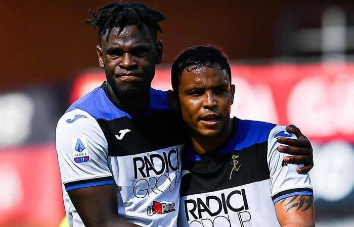 Muriel y Zapata colombianos en Atalanta de la Serie A - EFE
