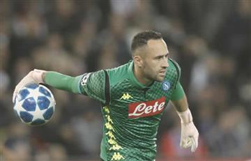 Debut agridulce para David Ospina en su regreso a la titular del Nápoles