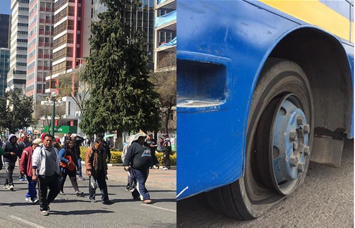 Resultado del paro de transportadores en Bogotá. Foto Twitter