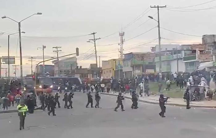 Así se vive la situación en la localidad de Usme, al sur de Bogotá. Foto: Twitter