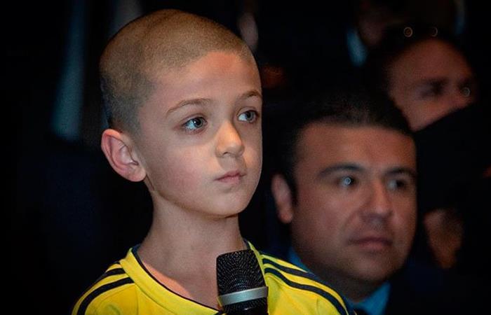 Bishop Mularz, niño de 8 años que cuestionó a Iván Duque en Estados Unidos. Foto: Twitter