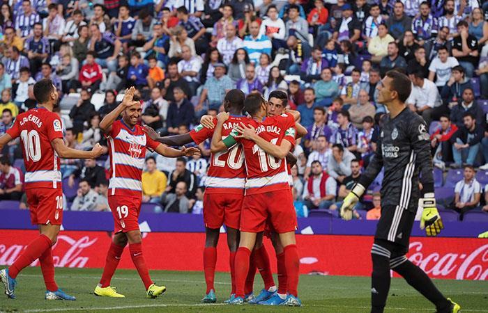 LaLiga Adrián Ramos titular Granada Real Valladolid