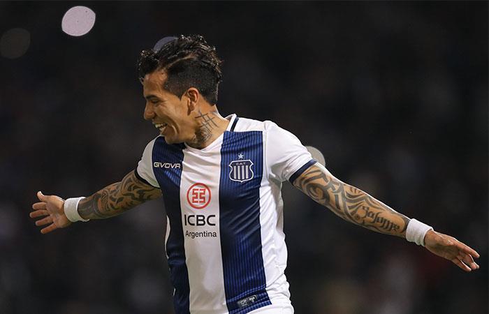 Dayro Moreno anotó el gol de la victoria de Talleres sobre Gimnasia. Foto: EFE