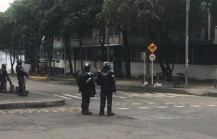Disturbios Universidad Pedagógica. Foto: Twitter