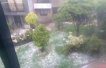 ¡Impresionante! Granizada al sur de Aburrá dejó el suelo como si hubiera nevado