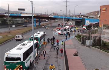¡Más tranquilo! Así se desarrolla el tercer día del Paro de Transportadores en Bogotá