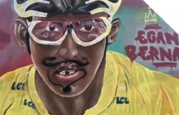 [VIDEO] ¿Y esto? Dañan el mural de Egan Bernal en Zipaquirá