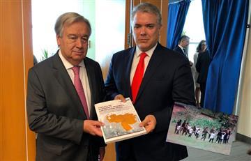 "Polémica por ""falsa foto"" en denuncia que entregó Duque contra Venezuela a la ONU"