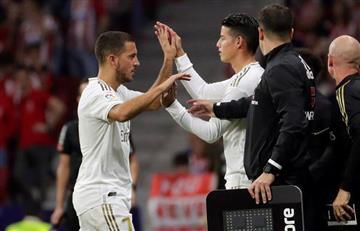 Con James Rodríguez, Real Madrid igualó ante 'los colchoneros'