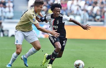 ¡Bien, Cuadrado! El colombiano cumplió en una nueva posición y Juventus derrotó a Spal