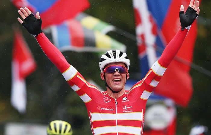 Mundial de Ciclismo Mads Pedersen Carlos Betancourt Yorkshire Gran Bretaña
