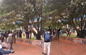 Policías 'infiltrados' en marcha estudiantil también causaron daños en Icetex