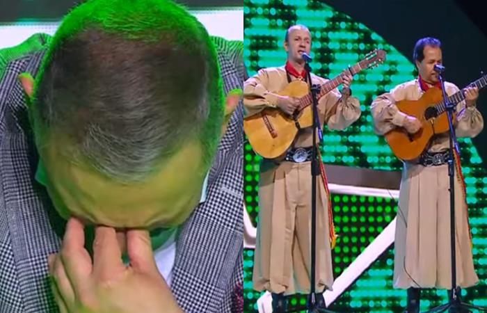 César Escola no pudo contener las lágrimas. Foto: Youtube