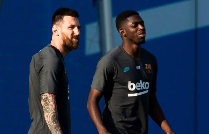 Messi y Dembélé recibieron el alta médica luego de sus lesiones. Foto: EFE