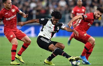 ¡Grande Cuadrado! Gran trabajo de Juan Guillermo en la victoria de Juventus ante Bayer Leverkusen