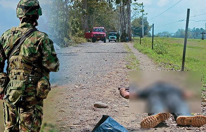 Ejemplo de uno de los miles de 'falsos positivos' que se dieron en Colombia. Foto: Twitter