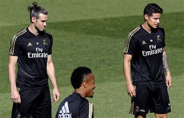 ¿No que estaba lesionado? James Rodríguez entrenó con total normalidad en Real Madrid