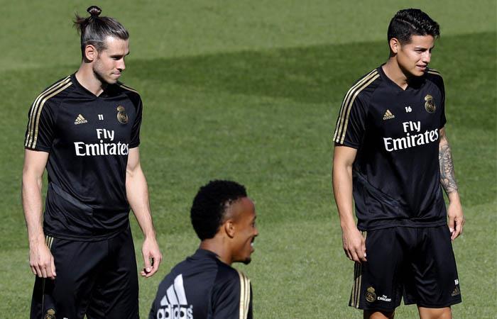 James y Bale no fueron convocados para el partido ante Brujas. Foto: EFE