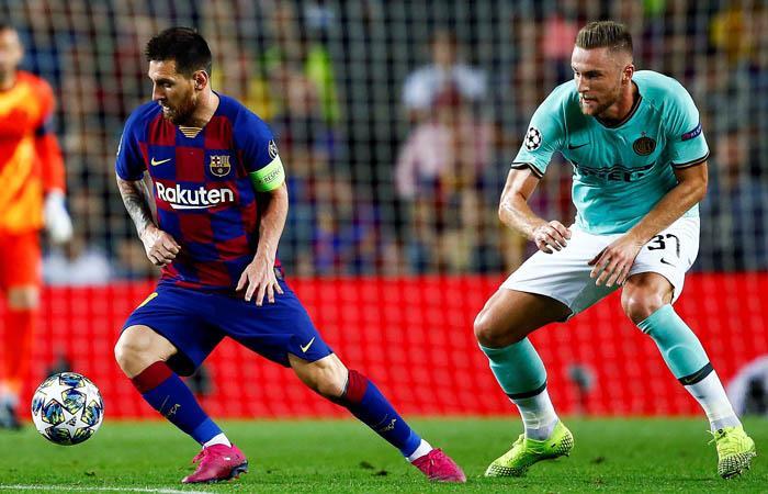 Messi fue el más determinante en la victoria de Barcelona sobre Inter de Milán. Foto: EFE