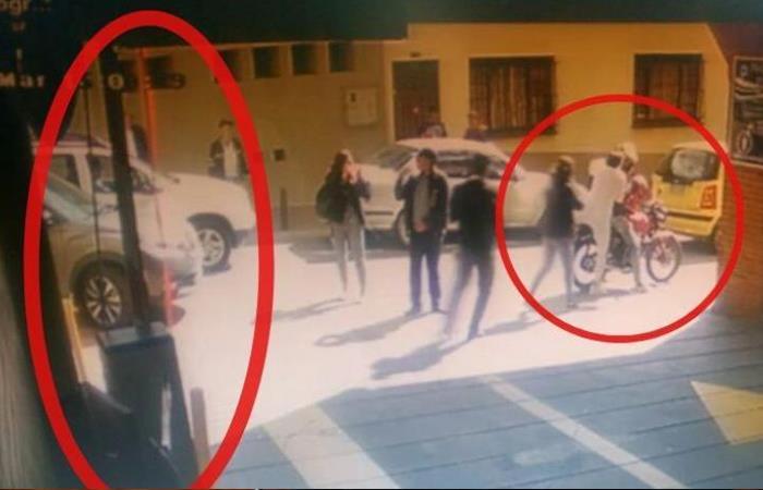 Momento en el que Aída Merlano se escapa de la Clínica La Sabana en Bogotá. Foto: Twitter