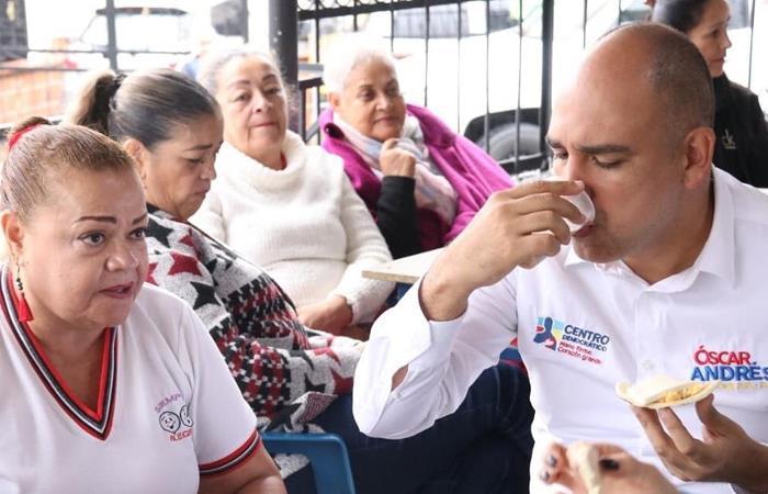 Óscar Pérez durante un acto de campaña en Bello, Antioquia. Foto: Twitter