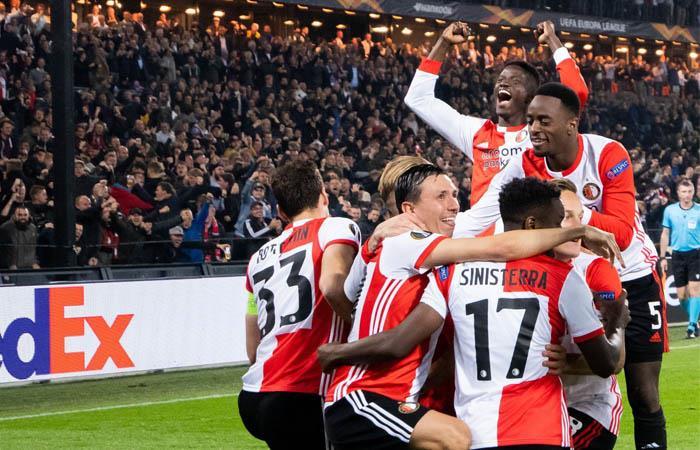 Feyenoord derrotó como local a Porto por la Europa League. Foto: EFE
