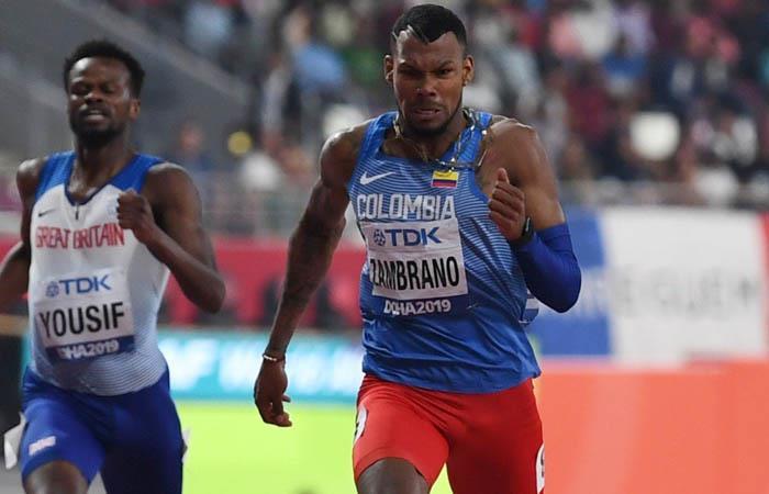 Anthony Zambrano declaraciones medalla de plata mundial de atletismo