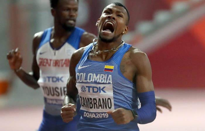 Mundial de Atletismo Anthony Zambrano plata 400 metros