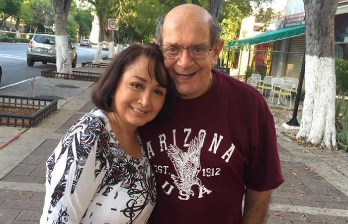 María Antonieta de las Nieves junto a su esposo. Foto: Twitter