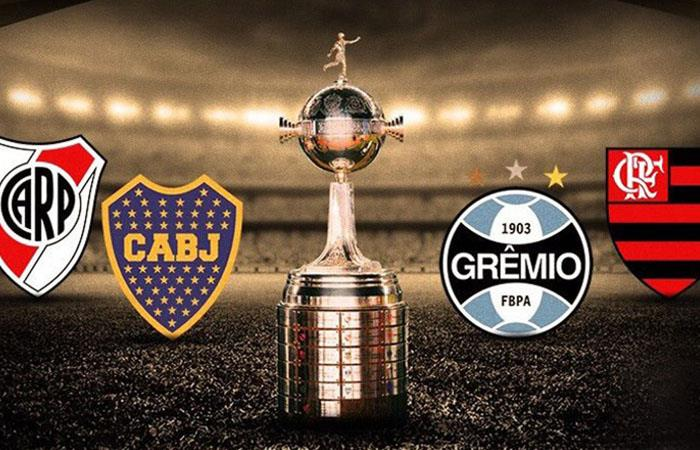 River Plate, Boca Juniors, Gremio y Flamengo, son los actuales semifinalistas de la Copa Libertadores 2019.