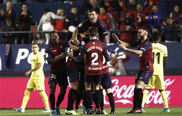 Con Carlos Bacca en la cancha, Villarreal cayó ante Osasuna