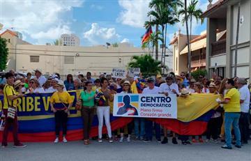 Los Uribistas se tomaron las calles antes de la indagatoria a Álvaro Uribe