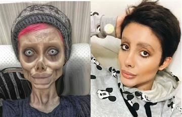 Arrestan a mujer iraní que se hizo varias cirugías para parecerse a Angelina Jolie
