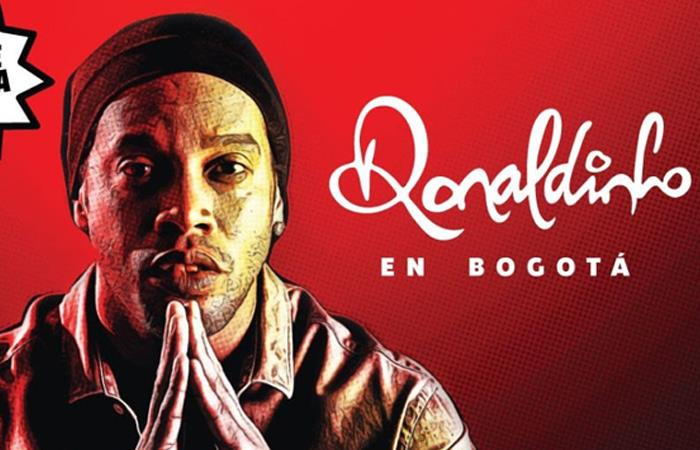 Aviso publicitario de la despedida de Ronaldinho Gaúcho en Bogotá. Foto: Twitter