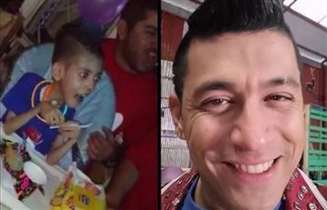 Emotivo regalo de Santiago Alarcón a un niño que es fanático de 'El man es Germán'