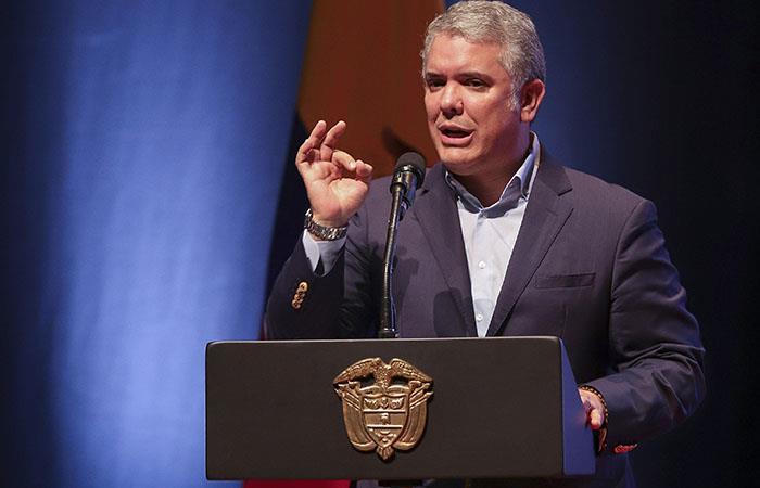 El presidente de Colombia, Iván Duque. Foto: EFE
