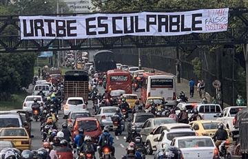 [FOTOS] Así avanzan las marchas en el país a favor y en contra de Álvaro Uribe