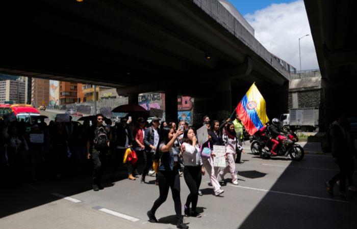 Marchas estudiantiles este 10 de octubre. Foto: Twitter.
