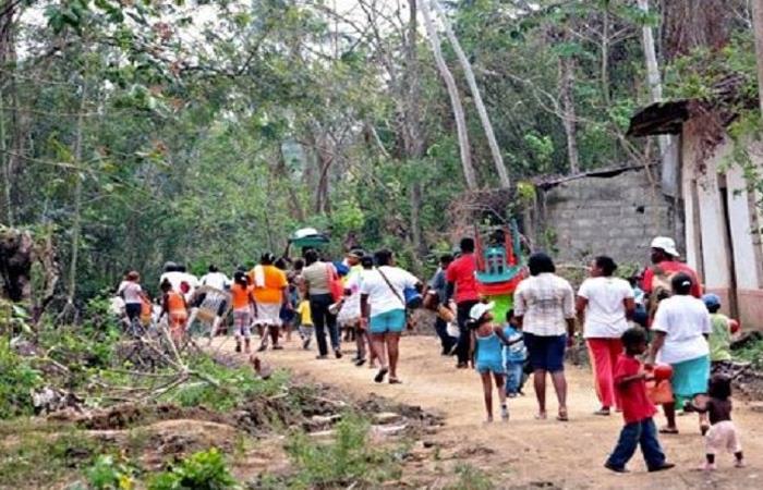 Colombianos desplazándose a causa del conflicto en el país. Foto: Twitter