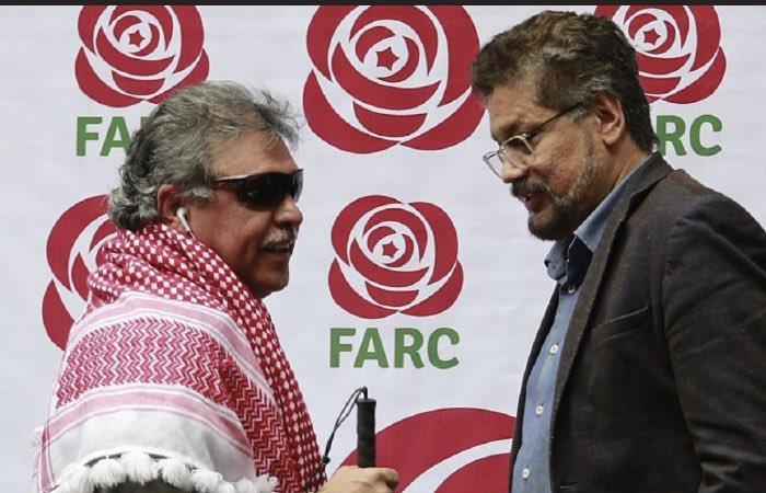 Alias 'Jesús Santrich' e 'Iván Márquez', exlíderes negociadores de las FARC durante el Acuerdo de Paz. Foto: Twitter