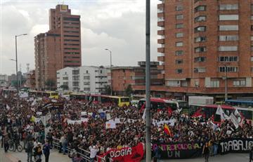 Así va la marcha estudiantil en Bogotá