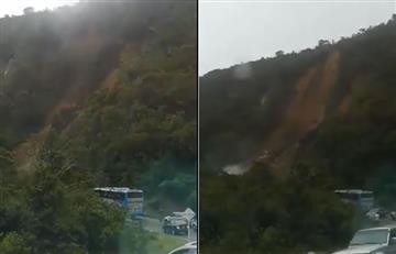 Fuerte derrumbe causa el cierre de la vía principal entre Boyacá y Casanare